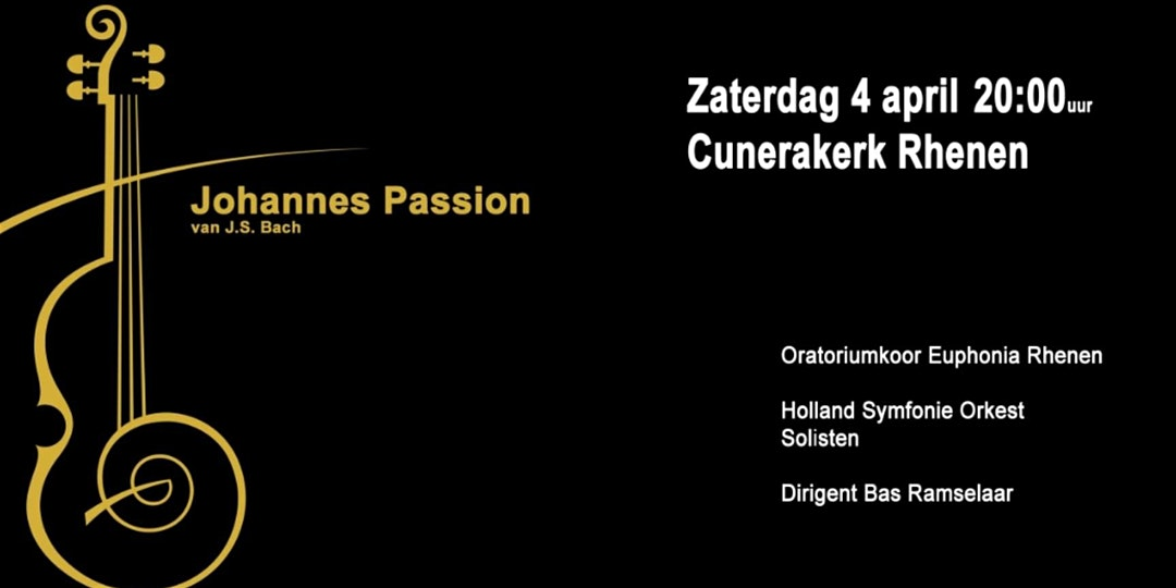 4 april Johannes Passion